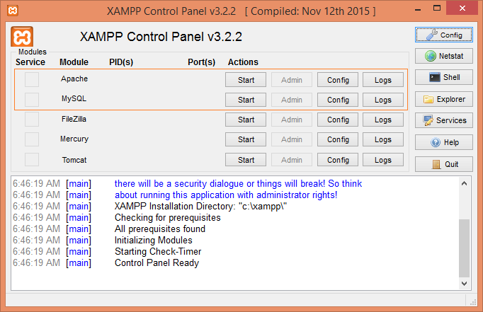 start-xampp