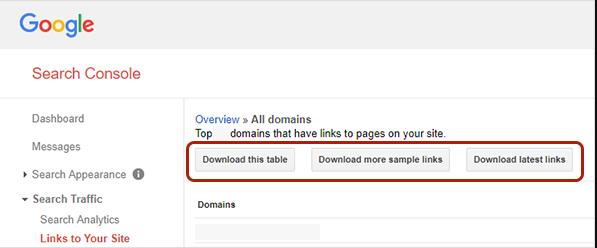 دانلود بک لینک از disavow tool
