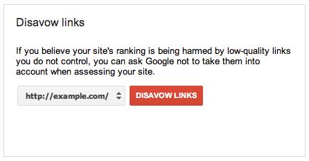 اپلود بک لینک های اسپم در disavow tool