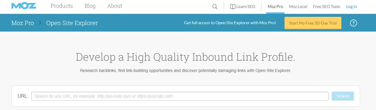 ابزار open site explorer